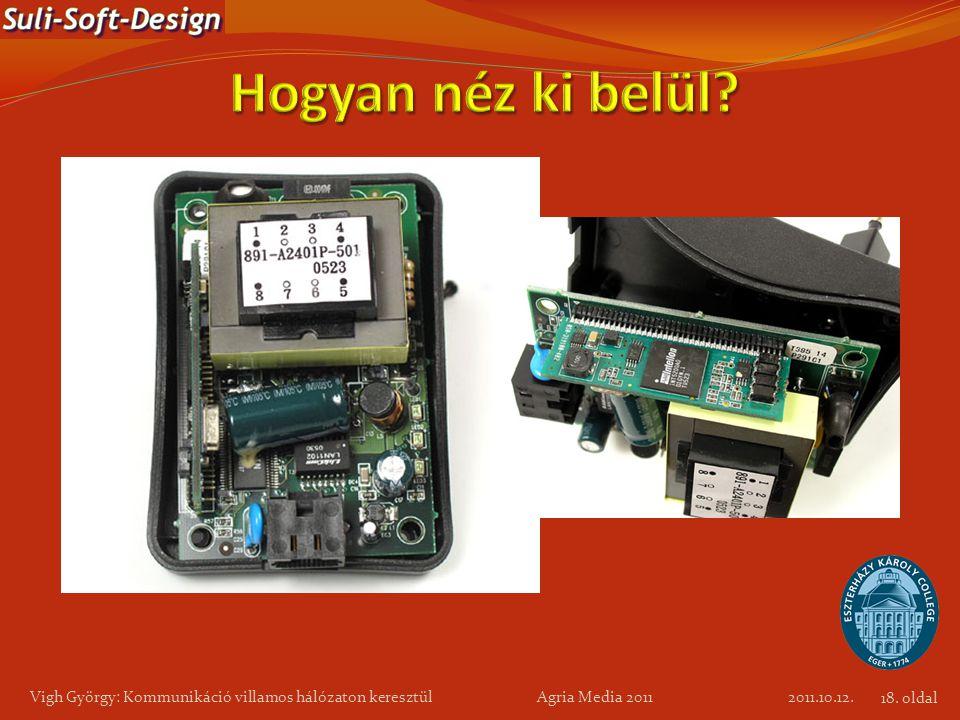 Vigh György: Kommunikáció villamos hálózaton keresztül Agria Media 2011 2011.10.12. 18. oldal