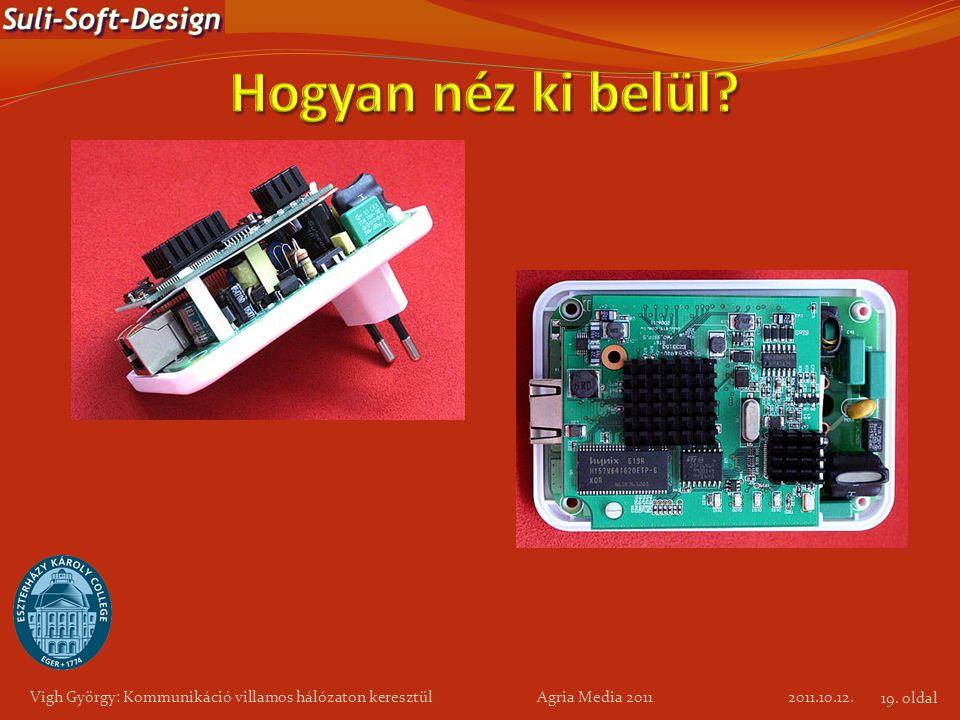 Vigh György: Kommunikáció villamos hálózaton keresztül Agria Media 2011 2011.10.12. 19. oldal