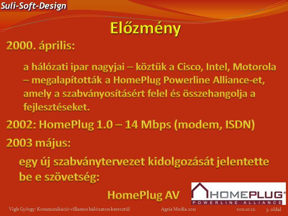 2011.10.12. Vigh György: Kommunikáció villamos hálózaton keresztül Agria Media 2011 3. oldal