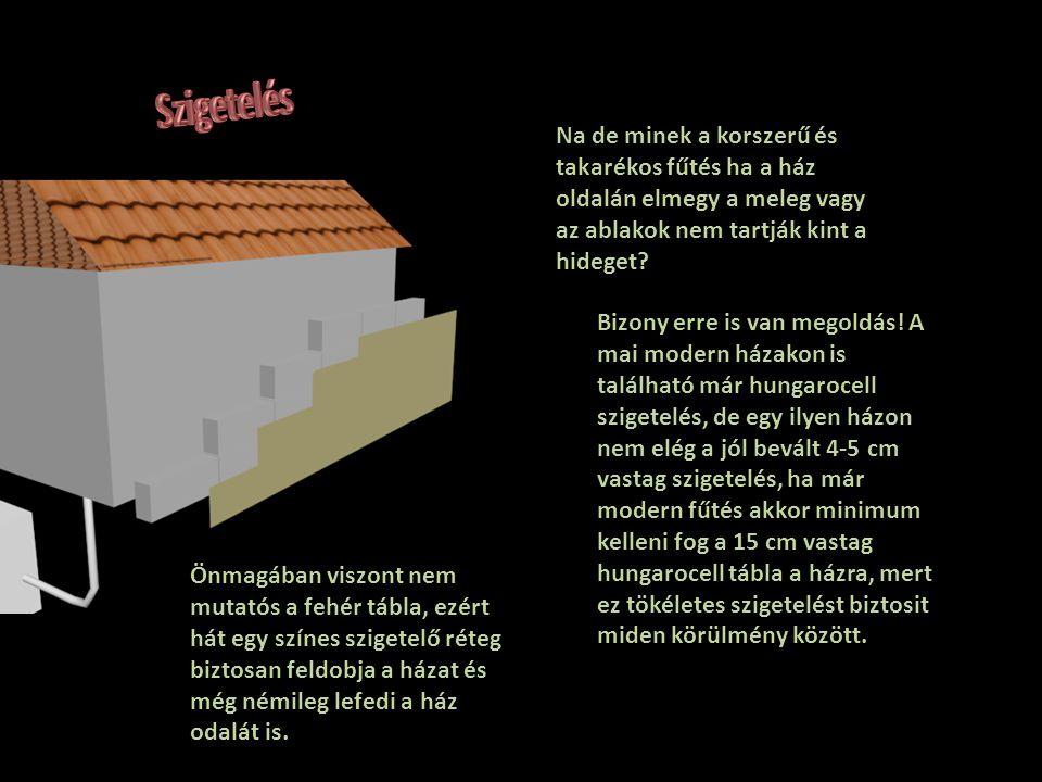 Bizony erre is van megoldás! A mai modern házakon is található már hungarocell szigetelés, de egy ilyen házon nem elég a jól bevált 4-5 cm vastag szig
