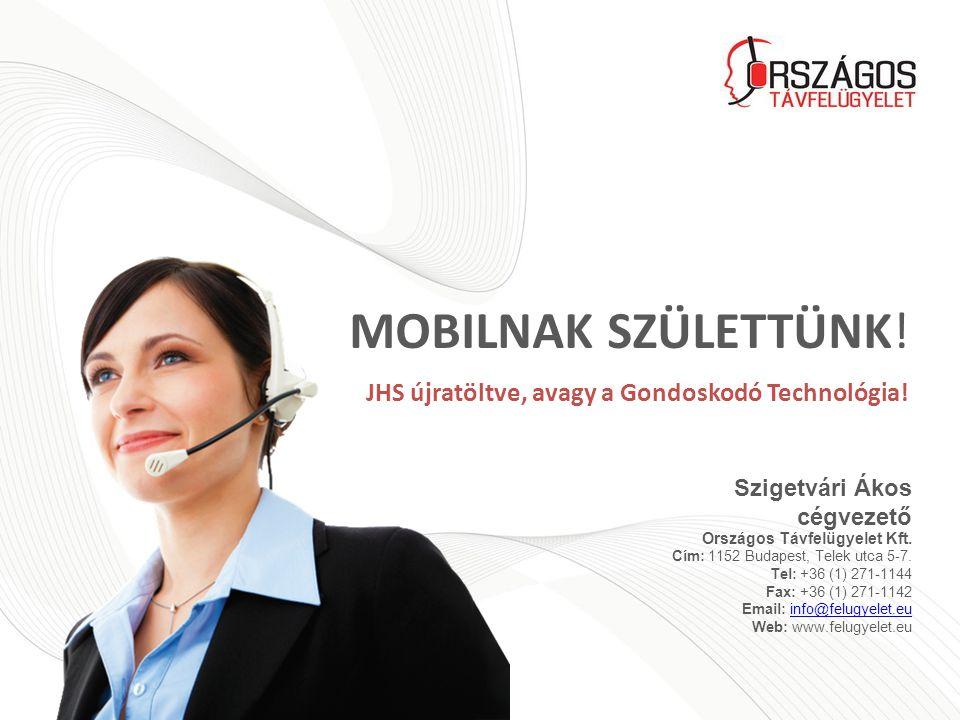 Szigetvári Ákos cégvezető Országos Távfelügyelet Kft.