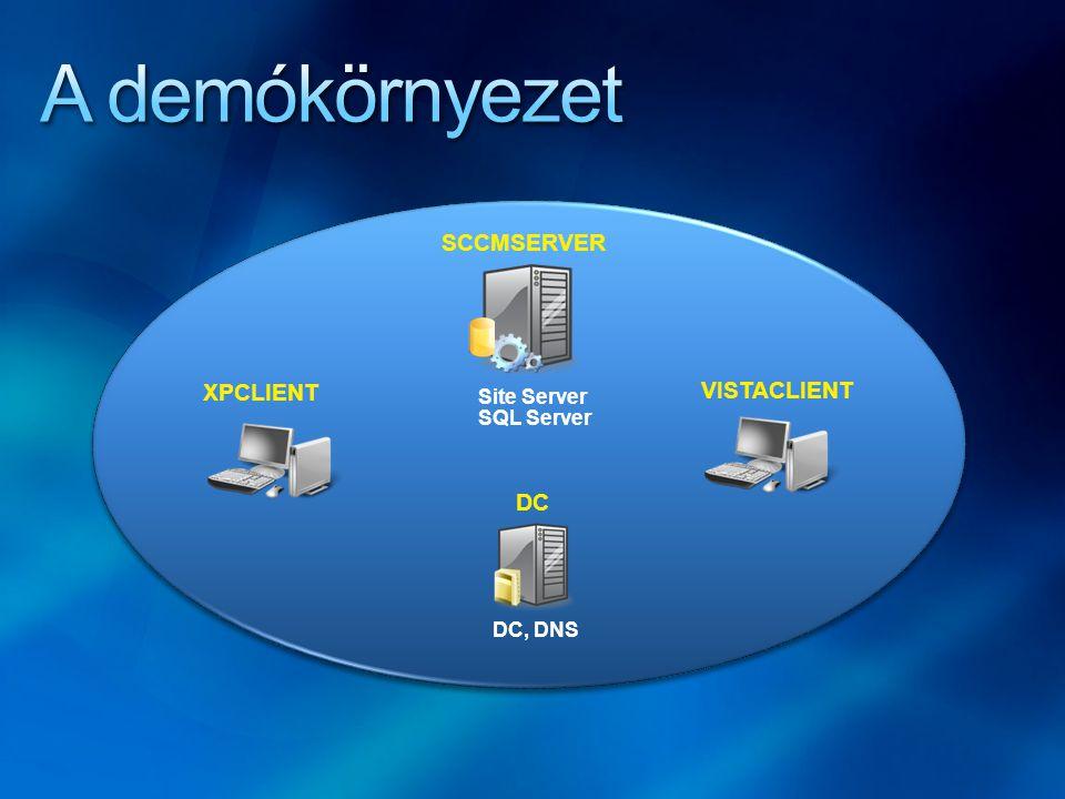 Site Server SQL Server SCCMSERVER XPCLIENT VISTACLIENT DC, DNS DC