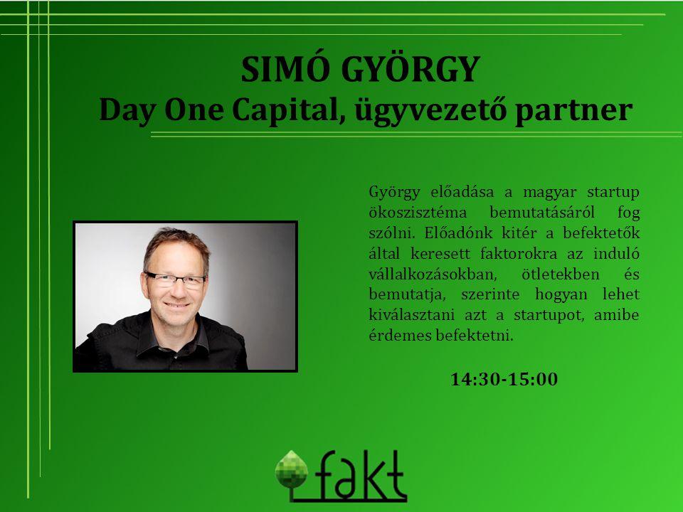 SIMÓ GYÖRGY György előadása a magyar startup ökoszisztéma bemutatásáról fog szólni. Előadónk kitér a befektetők által keresett faktorokra az induló vá