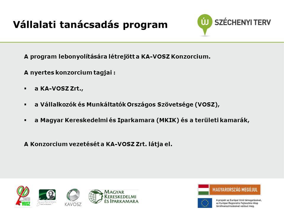 A program lebonyolítására létrejött a KA-VOSZ Konzorcium.