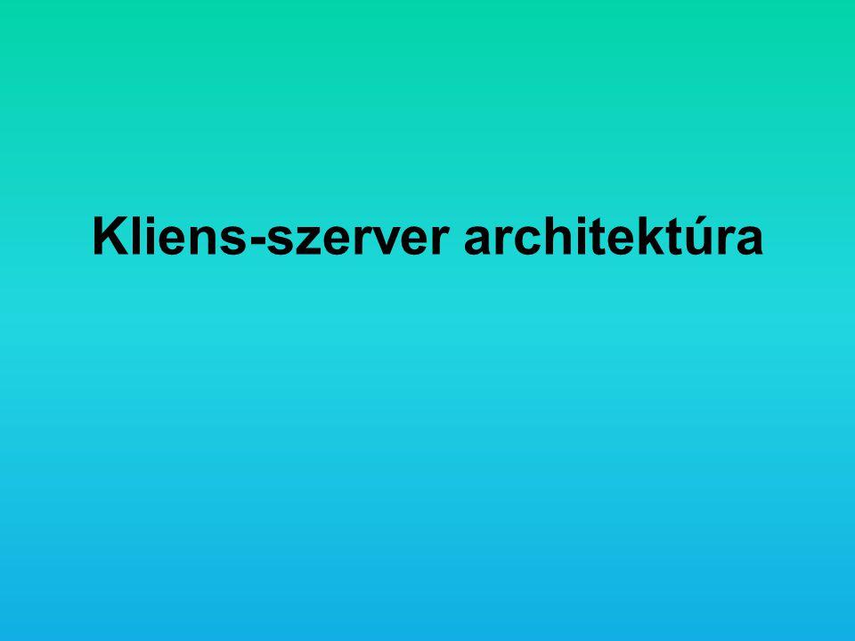 Kliens-szerver architektúra