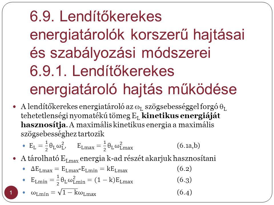 6.9. Lendítőkerekes energiatárolók korszerű hajtásai és szabályozási módszerei 6.9.1. Lendítőkerekes energiatároló hajtás működése 1