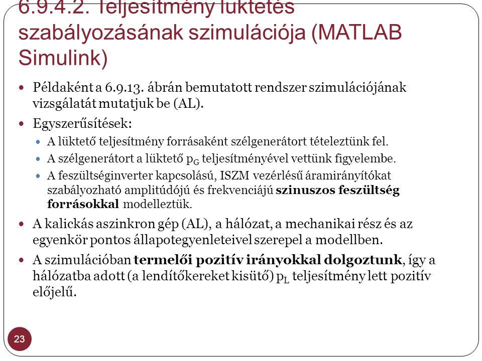 6.9.4.2. Teljesítmény lüktetés szabályozásának szimulációja (MATLAB Simulink) 23  Példaként a 6.9.13. ábrán bemutatott rendszer szimulációjának vizsg