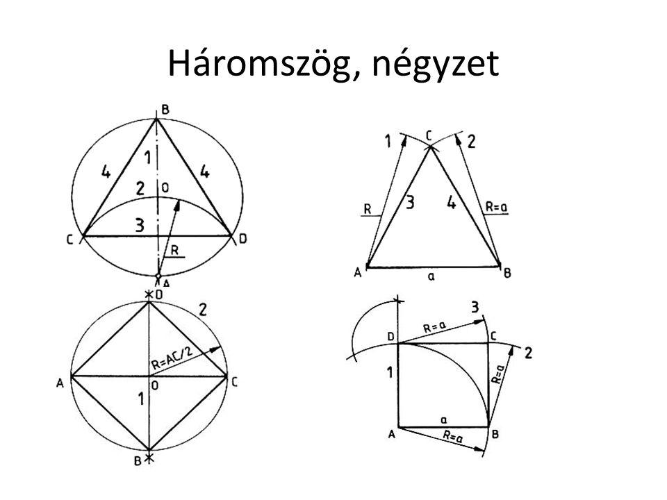 Háromszög, négyzet