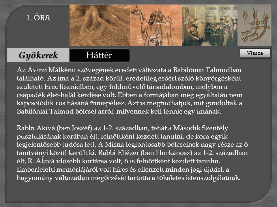 Háttér Gyökerek Az Ávinu Málkénu szövegének eredeti változata a Babilóniai Talmudban található.