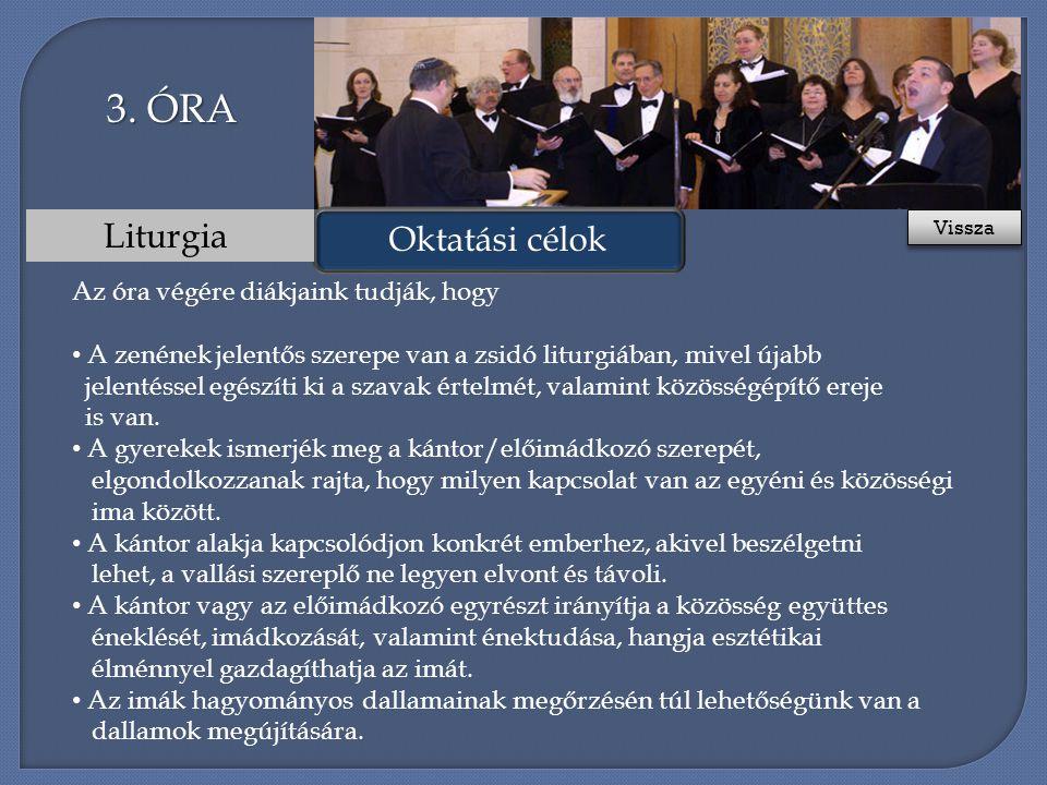 Oktatási célok Liturgia 3.
