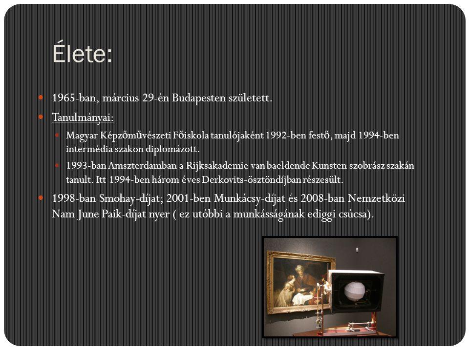 Munkássága:  1991 óta rendszeresen szerepel a kortárs magyar szobrászatot, képz ő m ű vészetet, a fiatal magyar, illetve európai képz ő m ű vészeket bemutató tárlatokon.