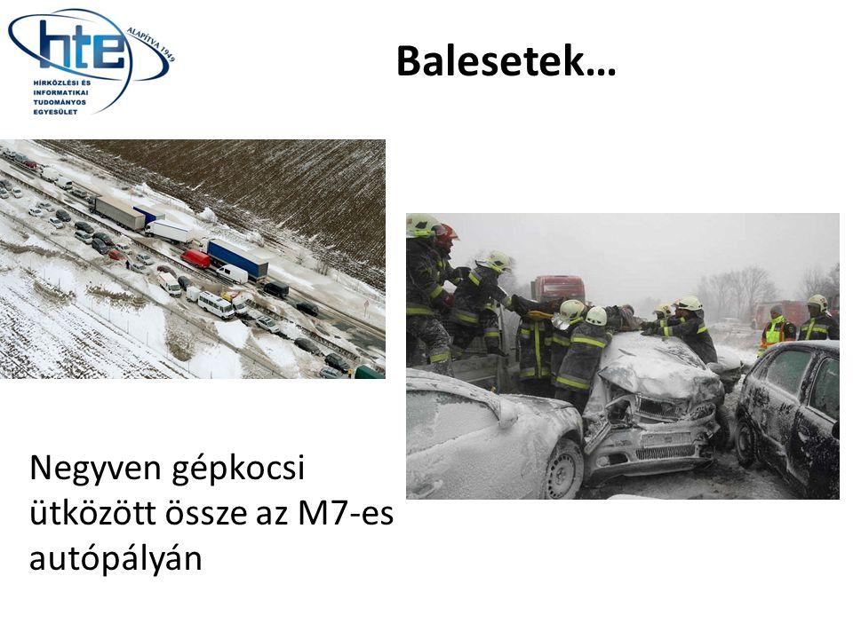 Negyven gépkocsi ütközött össze az M7-es autópályán Balesetek…