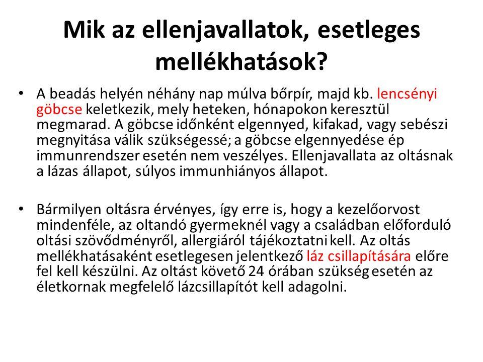 • A tetanusz elleni védőoltás Magyarországon az 1941.