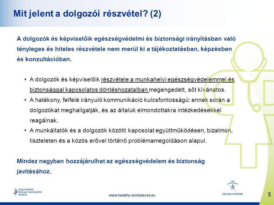 5 www.healthy-workplaces.eu Mit jelent a dolgozói részvétel.