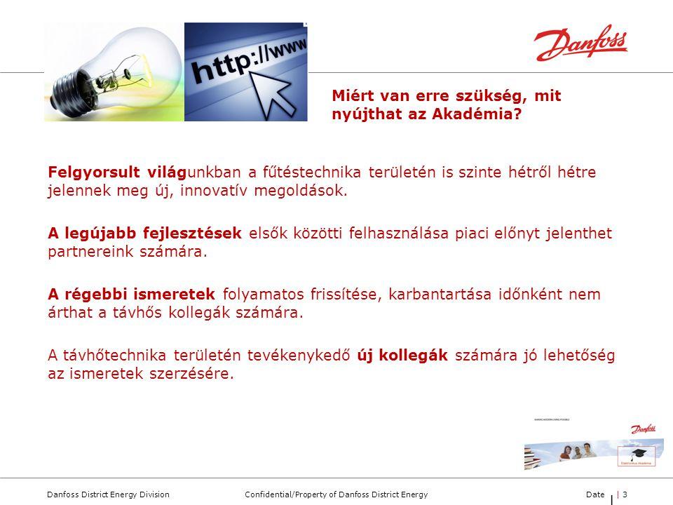 Confidential/Property of Danfoss District EnergyDanfoss District Energy DivisionDate| 3| 3 |3|3 Felgyorsult világunkban a fűtéstechnika területén is s