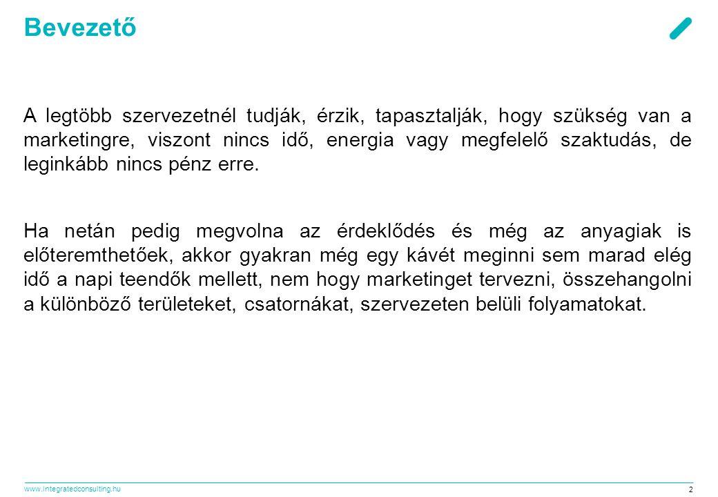 www.integratedconsulting.hu 53 Eredmények mérése ●Tevékenységünk reális értékeléséhez hozzátartozik a teljesítmény mutatók rendszerének kialakítása.