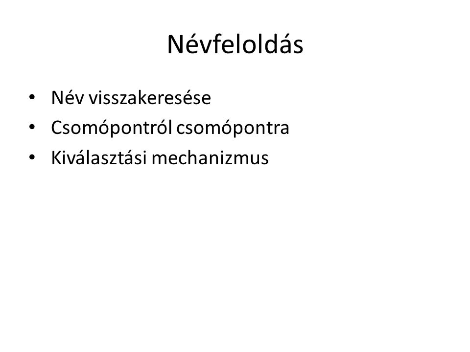 Csatolás és felszerelés (1) • Az elnevezési gráfban lévő szimbolikus hivatkozás elvének magyarázata.