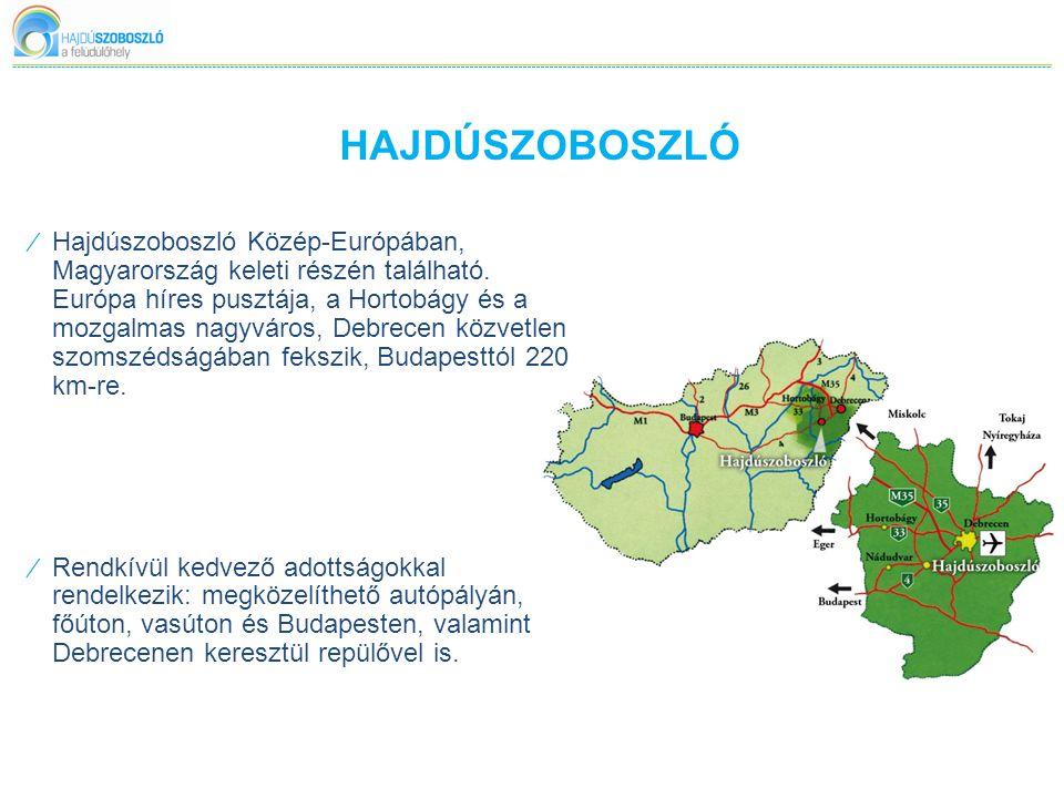 HAJDÚSZOBOSZLÓ ⁄ A település első írásos említése 1075-ből való, de a város fejlődésének fő irányvonalát 1925.