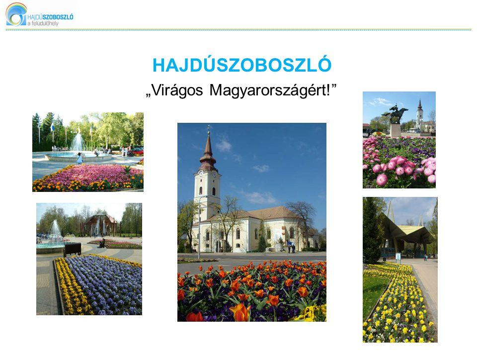 """HAJDÚSZOBOSZLÓ """"Virágos Magyarországért!"""