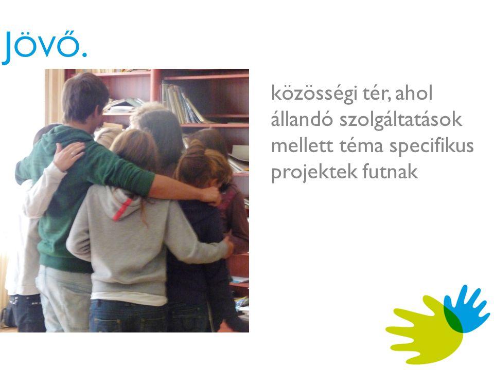 J ÖVŐ. közösségi tér, ahol állandó szolgáltatások mellett téma specifikus projektek futnak