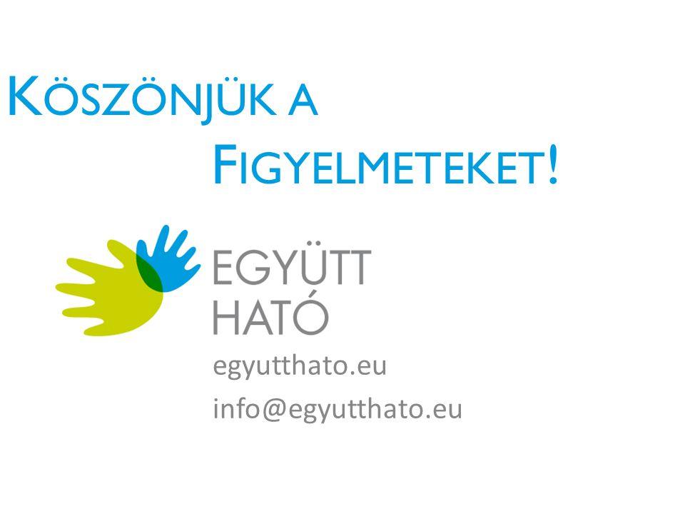 K ÖSZÖNJÜK A F IGYELMETEKET ! egyutthato.eu info@egyutthato.eu