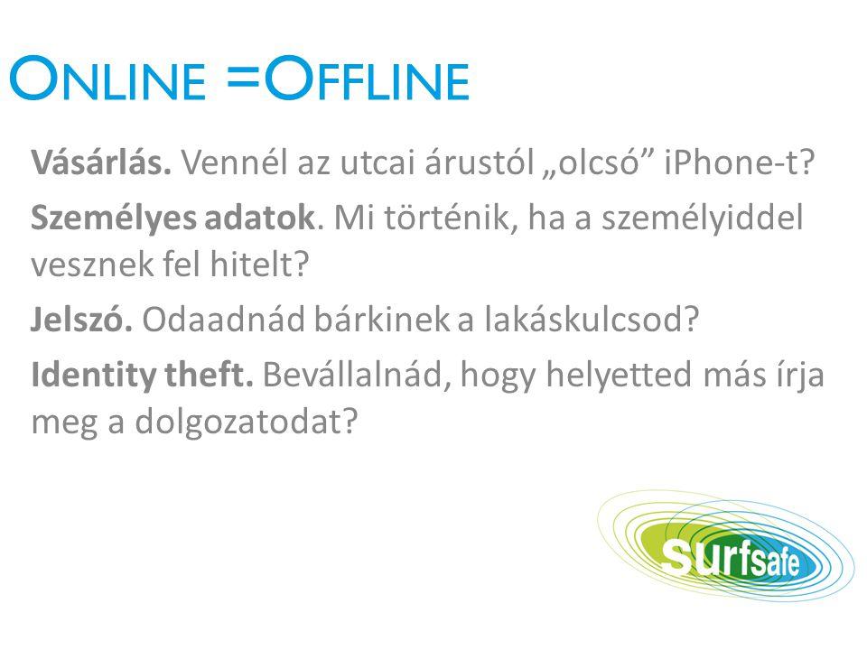 """O NLINE =O FFLINE Vásárlás. Vennél az utcai árustól """"olcsó iPhone-t."""