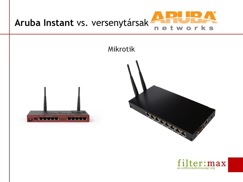 Aruba Instant vs. versenytársak Mikrotik