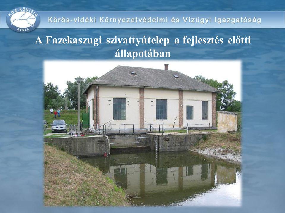 A Fazekaszugi szivattyútelep a fejlesztés előtti állapotában