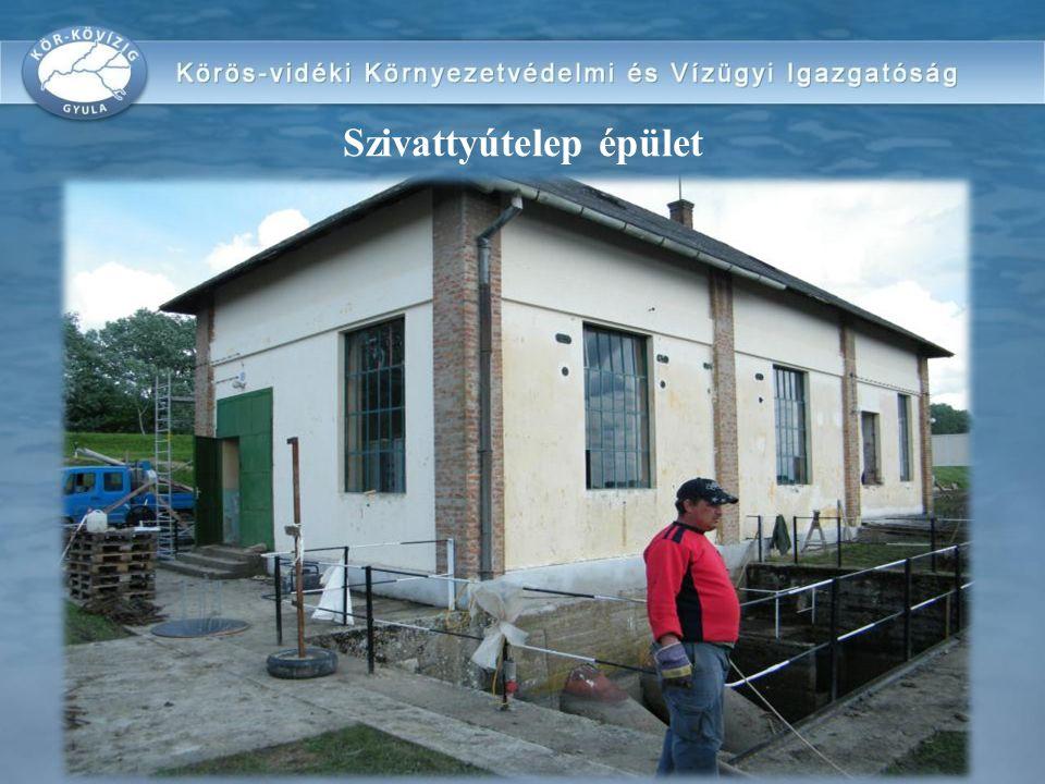 Szivattyútelep épület