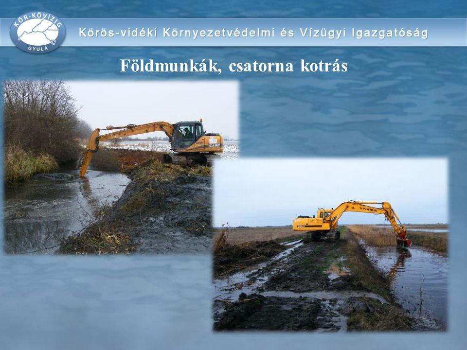 Földmunkák, csatorna kotrás