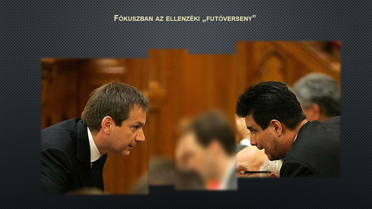 """F ÓKUSZBAN AZ ELLENZÉKI """" FUTÓVERSENY"""