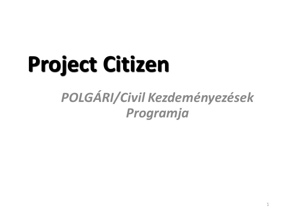 2 Mi is az a Project Citizen.