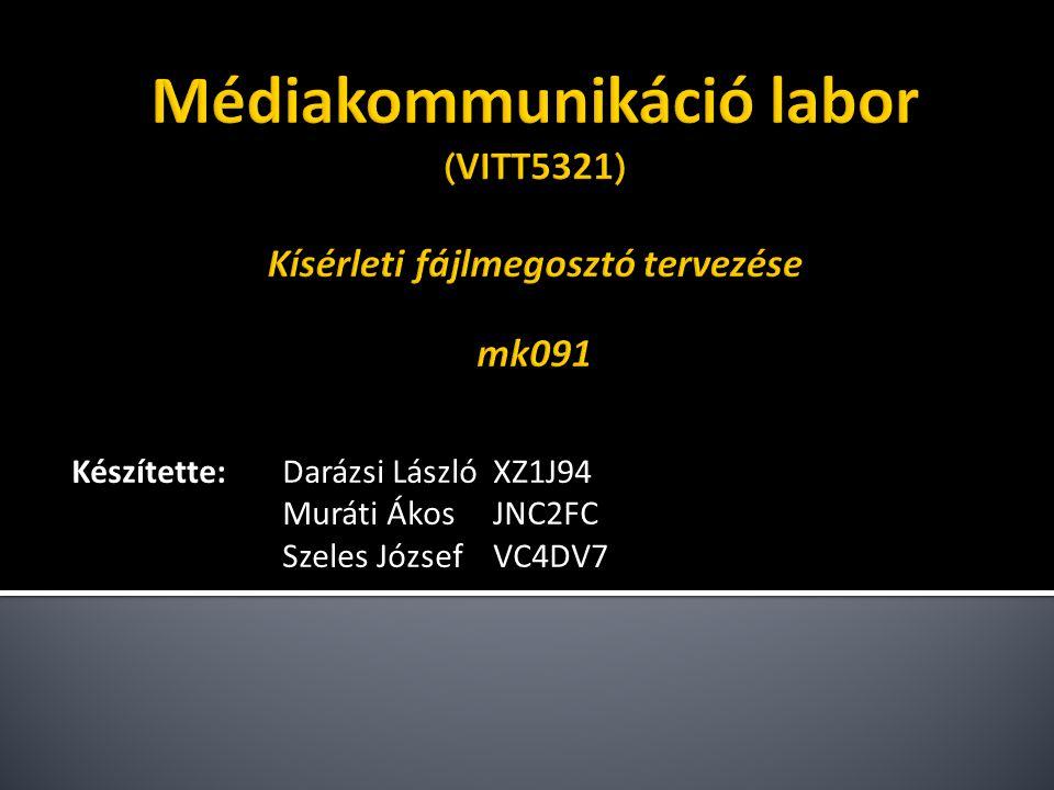 Készítette:Darázsi LászlóXZ1J94 Muráti ÁkosJNC2FC Szeles JózsefVC4DV7