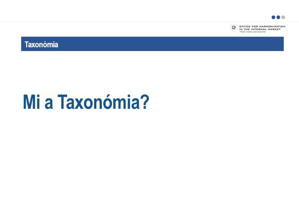 Taxonómia A Taxonómia célja