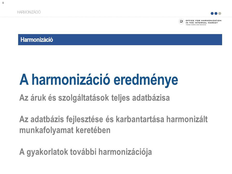 Harmonizáció A harmonizáció eredménye HARMONIZÁCIÓ Az áruk és szolgáltatások teljes adatbázisa Az adatbázis fejlesztése és karbantartása harmonizált munkafolyamat keretében A gyakorlatok további harmonizációja 8
