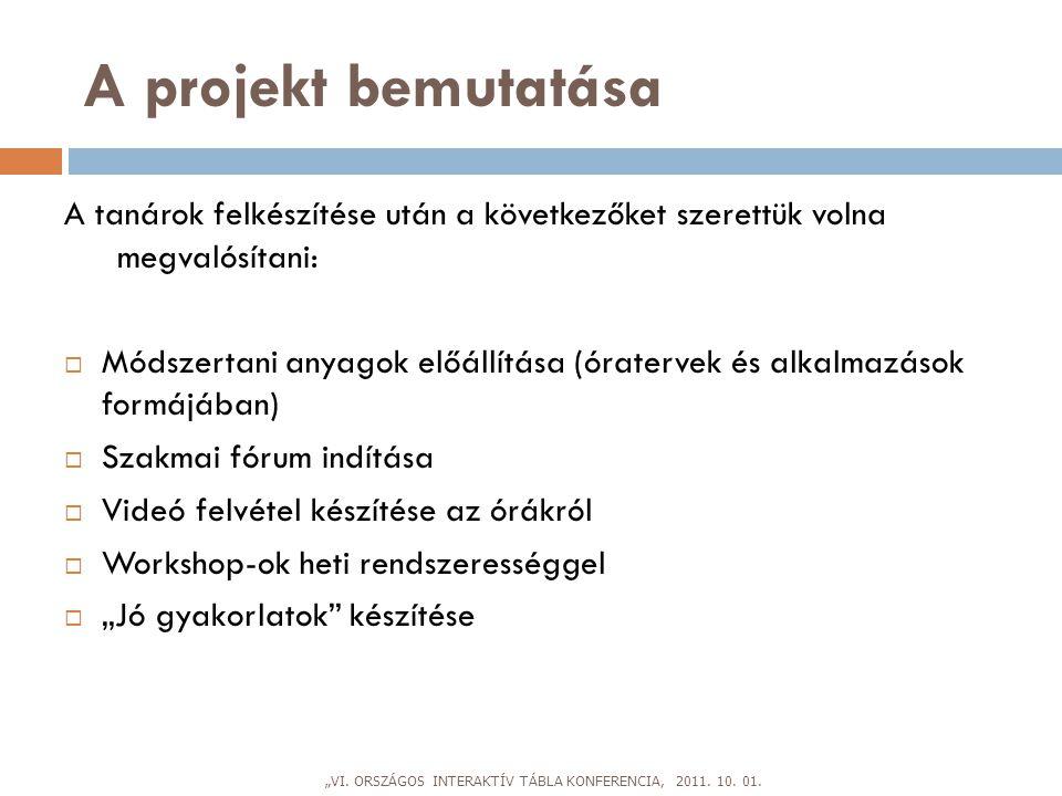e-Papír projekt  2010.szeptember – október, 7. és 11.