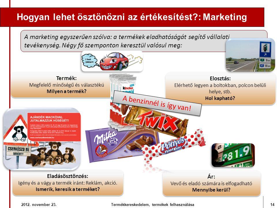 Hogyan lehet ösztönözni az értékesítést?: Marketing Ár: Vevő és eladó számára is elfogadható Mennyibe kerül? Ár: Vevő és eladó számára is elfogadható