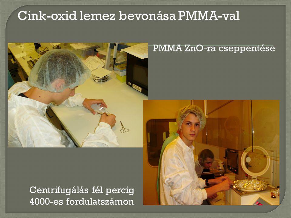 Elektronsugaras litográfia Minta megtervezése PC-n Expozíció a ZnO hordozóra