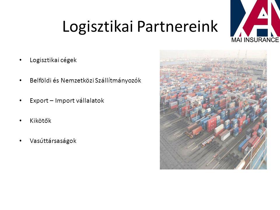 Logisztikai Partnereink • Logisztikai cégek • Belföldi és Nemzetközi Szállítmányozók • Export – Import vállalatok • Kikötők • Vasúttársaságok