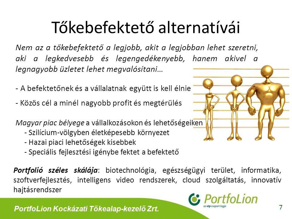 Tőkebefektető alternatívái Nem az a tőkebefektető a legjobb, akit a legjobban lehet szeretni, aki a legkedvesebb és legengedékenyebb, hanem akivel a l