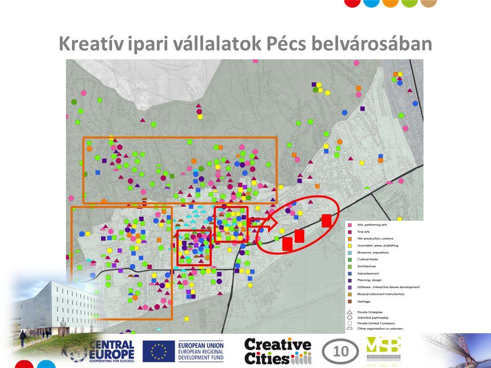 Kreatív ipari vállalatok Pécs belvárosában 10