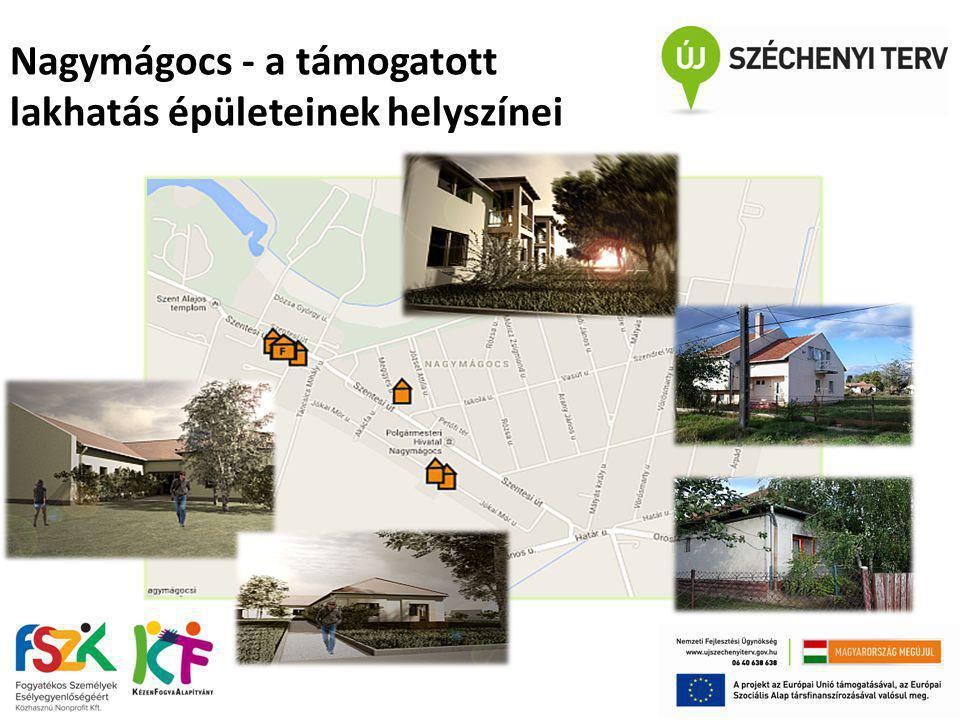 Nagymágocs - a támogatott lakhatás épületeinek helyszínei