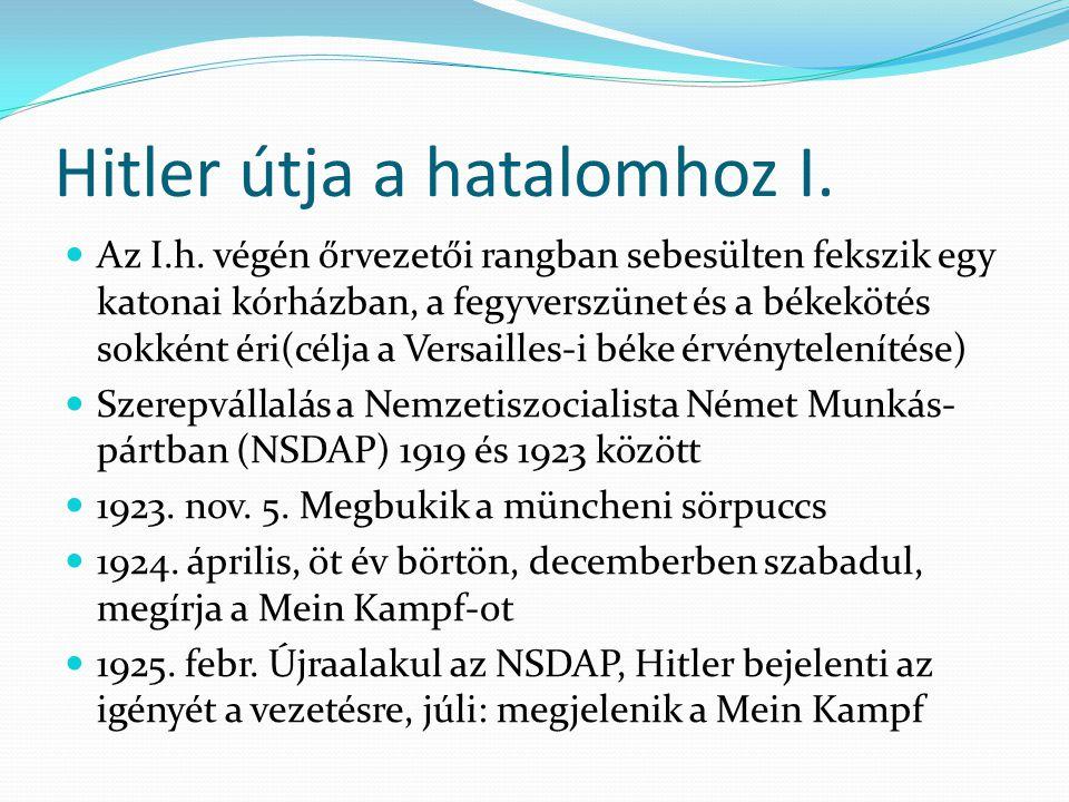 Hitler útja a hatalomhoz II. 1927. máj. Hitler első beszéde Berinben  1929.