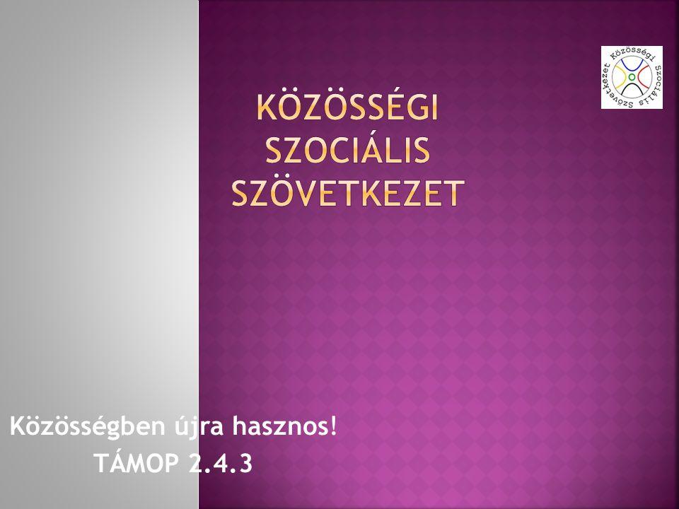 Közösségben újra hasznos! TÁMOP 2.4.3