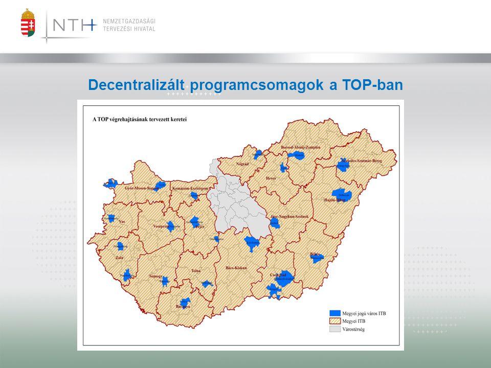Decentralizált programcsomagok a TOP-ban