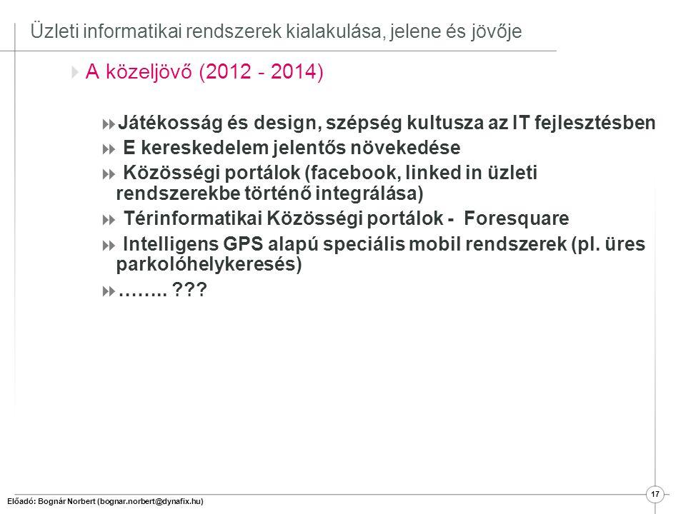 18 II. Üzleti IT rendszerek elterjedtsége (piaci helyzet) Magyarországon és a Világban