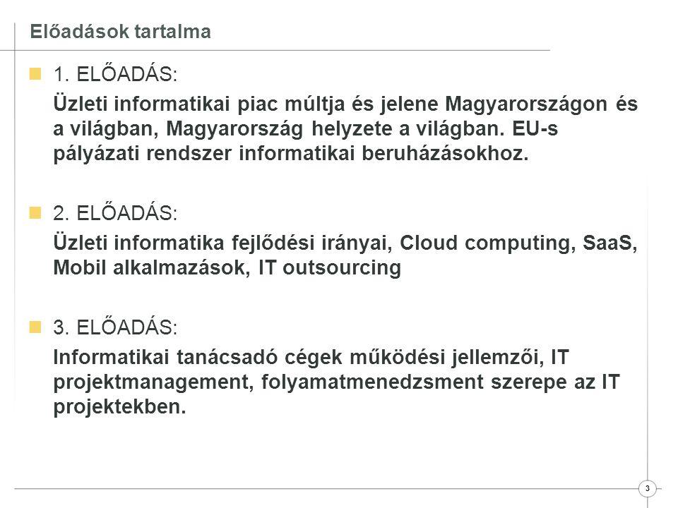 4 Előadások tartalma  4.ELŐADÁS: Microsoft Dynamics NAV bemutatása 1.