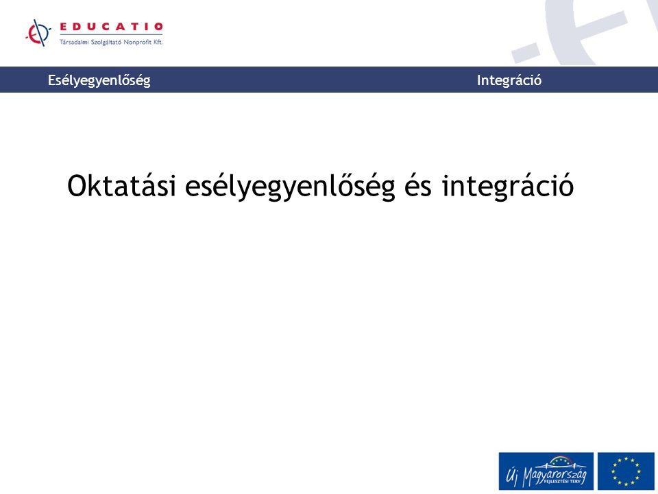 Esélyegyenlőség Integráció Oktatási esélyegyenlőség és integráció