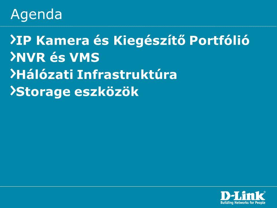 Agenda IP Kamera és Kiegészítő Portfólió NVR és VMS Hálózati Infrastruktúra Storage eszközök
