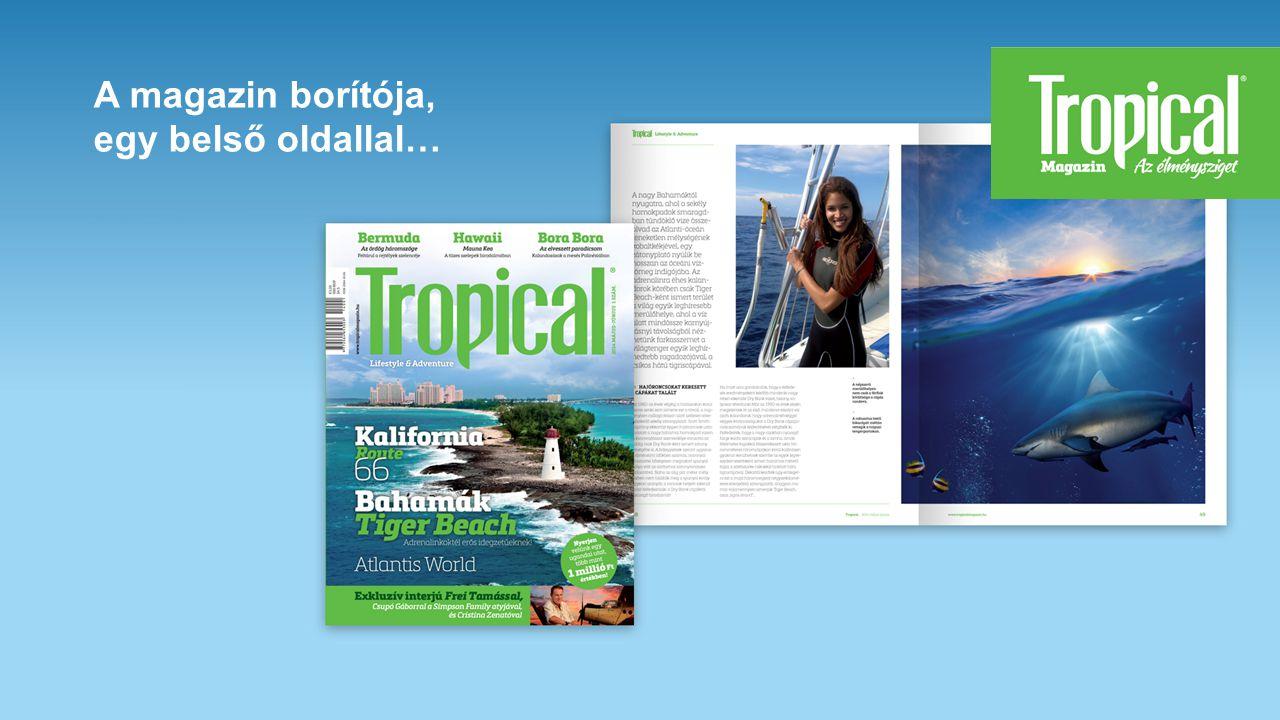 A magazin borítója, egy belső oldallal…